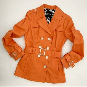 Guess Double Breasted Tangerine spring JackeT - M